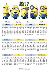 Guatemala Calendã 2018 New York Web Design Studio New York Ny Minions Calendar