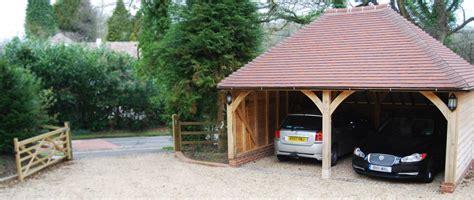 Oak Framed Car Port by Oak Framed Garages The Acorn Range Oak Designs Co