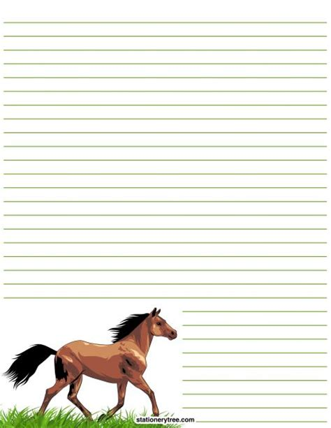 free printable horse stationery printable horse stationery and writing paper multiple