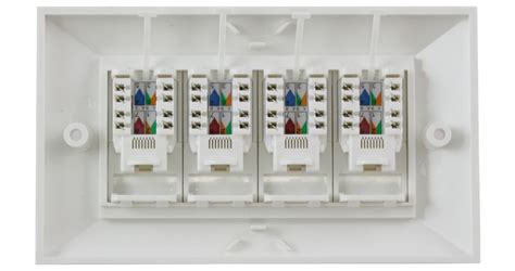 Faceplate Rj45 4 By Subway ce 4 x rj45 cat6 modules in a doublegang faplate 4 x utp