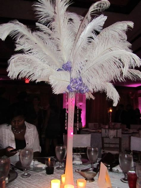 ostrich feather centerpieces weddingbee photo gallery