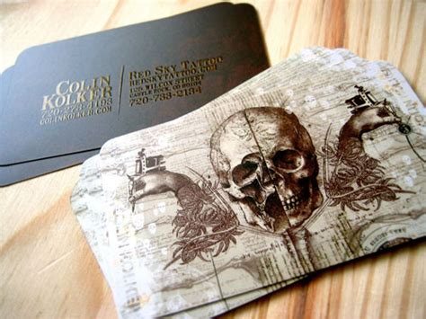 tattoo visiting card design sky s cool business card