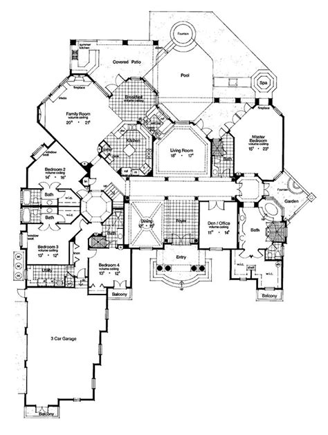 large luxury home floor plans 85 best house plans images on pinterest arquitetura