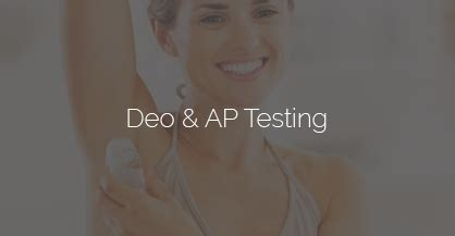Antiperspirant Test by Clinical Testing Product Testing Cosmetic Testing