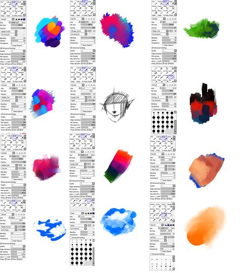 brushes type for paint tool sai by ryky on deviantart