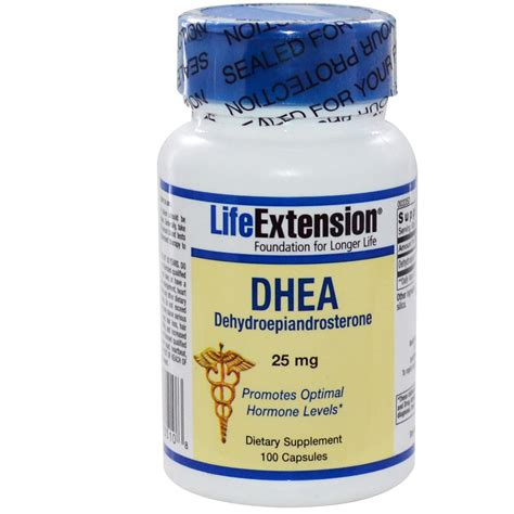 Suplemen Dhea extension dhea dehydroepiandrosterone 25 mg 100 capsules iherb