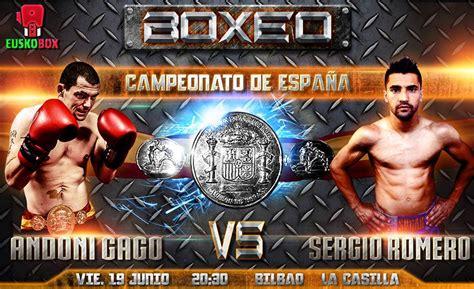 boxeo campeonato de espana pluma en la casilla gago