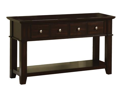Contemporary Kitchen Islands poundex f6192 brown wood console table steal a sofa