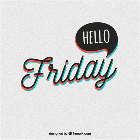 Friday With by Vintage Friday Background With Speech Vector Free