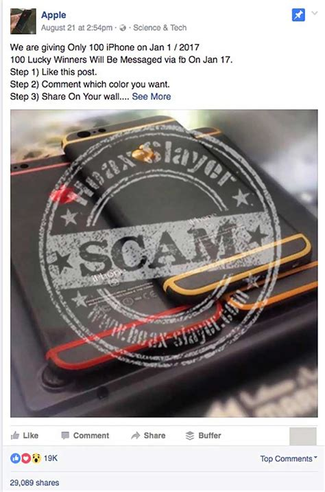 Apple Giveaway Scam - more iphone giveaway scams hitting facebook hoax slayer