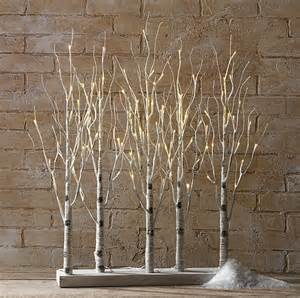 lit branches decorations light decorations indoor birch bark branches