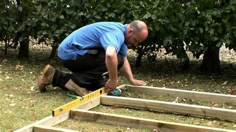 How to build a wooden shed base   YouTube