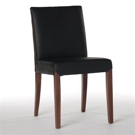 Black Leather Dining Chairs Real Leather Dining Chair In Black