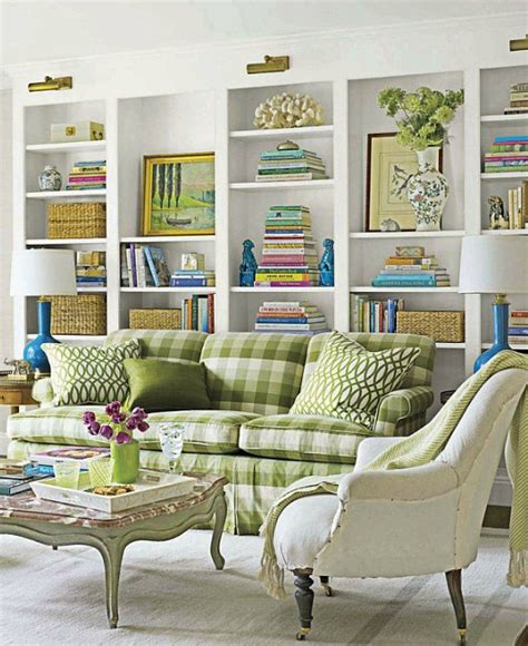 Blue Gingham Curtains Yeşil Koltuk Takımlarıdekorasyon Cini Dekorasyon Cini