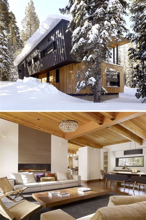 winter house interiors winter home roof sloped for snow like an avalanche shed