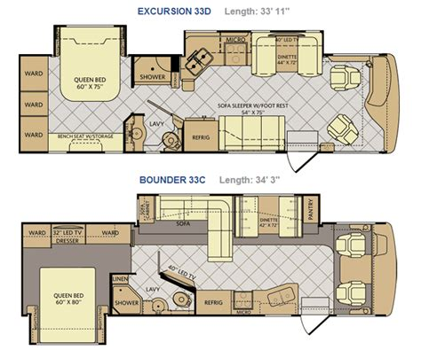 slide in cer floor plans fleetwood bounder motorhome floor plans wiring