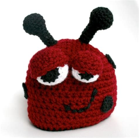 hat bousa ya bet 1000 images about crochet lady bug beanies and things on