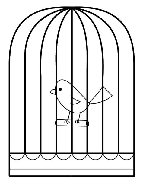 coloring pages of bird cages little bird in bird cage coloring pages best place to color