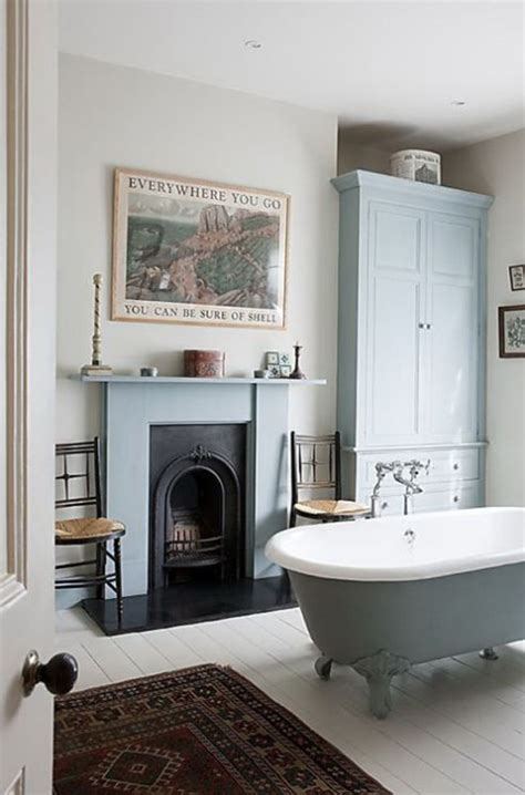 25 cozy and mesmerize bathrooms with fireplaces