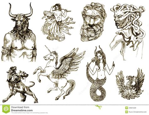 mythical monsters names all greek mythology creatures creatures on an old