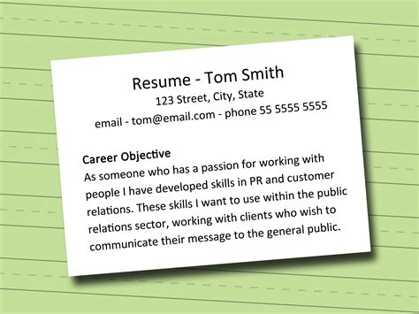 how to write a objective statement for a resume how to write a career objective 5 steps with pictures