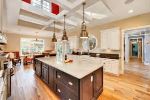 big kitchen island 10 industrial kitchen island lighting ideas for an eye catching yet cohesive d 233 cor