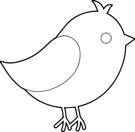 easy bird coloring page pictures birds drawing simple drawings art gallery