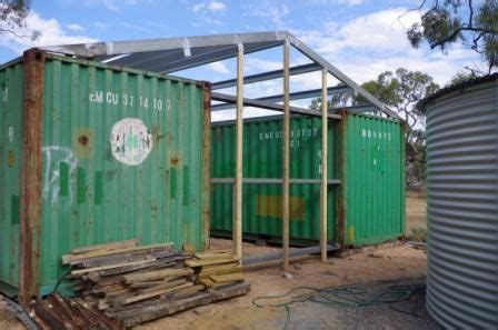 steel  timber frame  shipping container shed