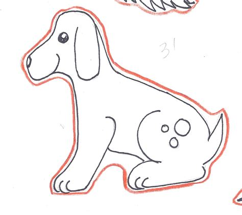 dog outline template www imgkid com the image kid has it