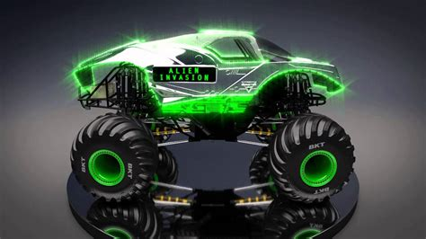 how long is monster truck jam all new monster jam truck alien invasion youtube