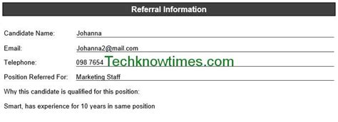 employee referral form template word employee referral form template in ms word