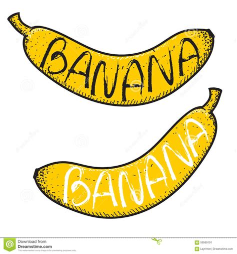 Is Handmade One Word Or Two - set of 2 bananas with the word handmade doodle fruits