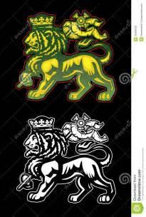 rastafarian lion of judah stock vector image of jamming