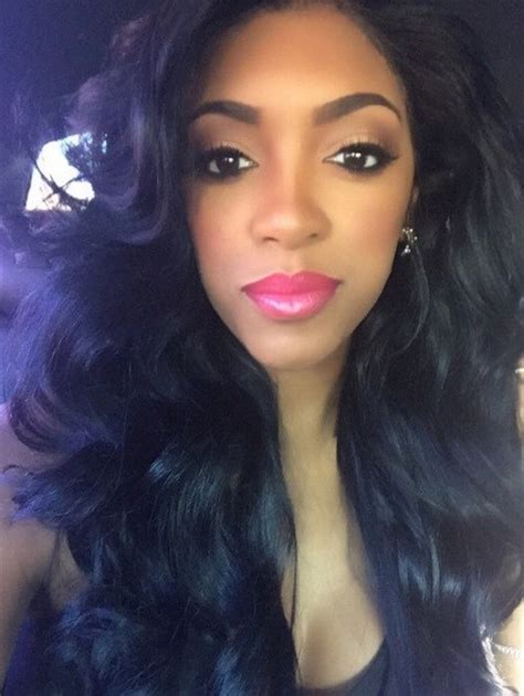 porcha atlanta house wife hair line pic rhoa s porsha williams reveals her natural hair on