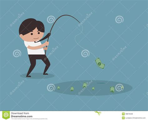 Fish For Money Gift Card - businessman fishing money concept stock vector image 38876538