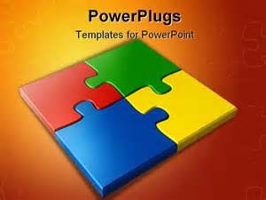 jigsaw puzzle powerpoint template free powerpoint template colored puzzles 17824