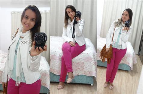 look jaqueta branca e cal 231 a pink schultz