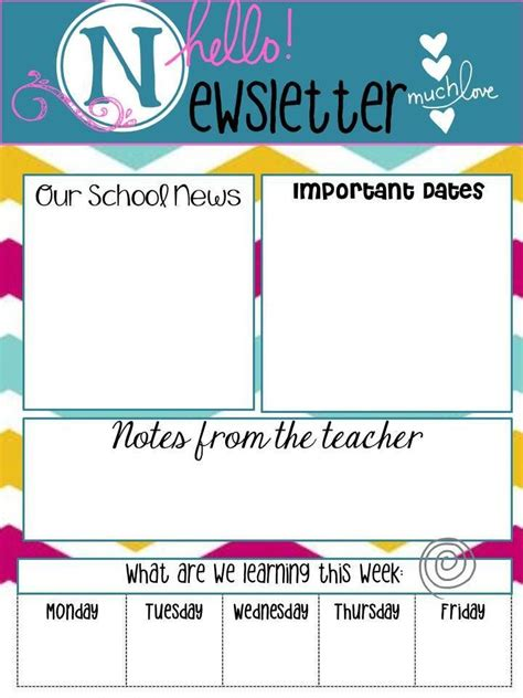newsletter templates for teachers template business
