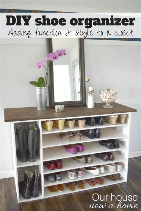 shoe organizer diy how to make a diy shoe organizer and rack for the closet