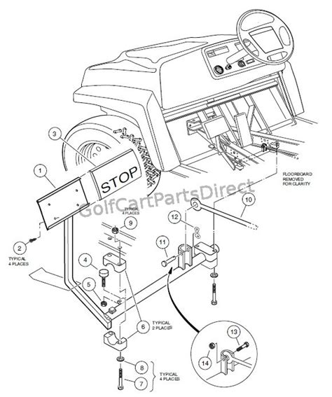 brake pedal assembly diagram brake pedal assembly club car parts accessories