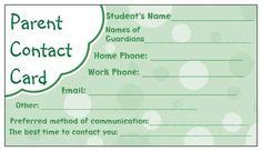 parent information card template 1000 images about preschool forms on