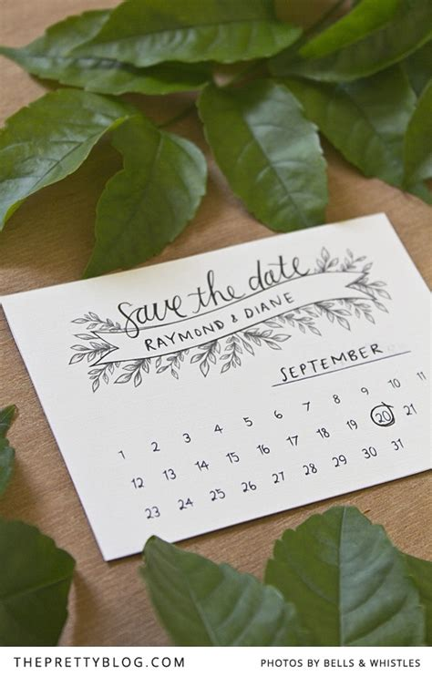 save the date calendar card free template 50 more free wedding printables and diy wedding downloads