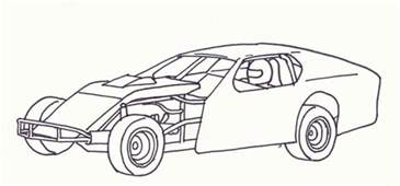 race car coloring page imca modified coloring pages coloring pages