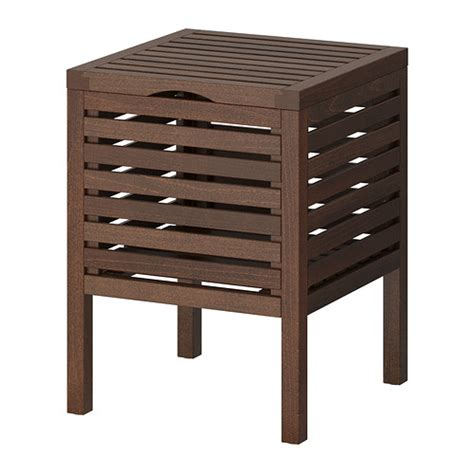 Storage Stool Bathroom Molger Storage Stool Brown Ikea