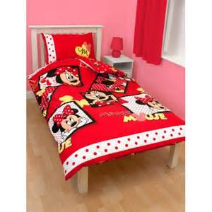 Minnie Mouse Toddler Bed Duvet Disney Minnie Mouse Single Bedding Duvet Quilt Cover