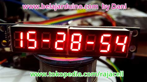 belajar membuat jam digital digital clock with 8 digits 7 segment module without rtc