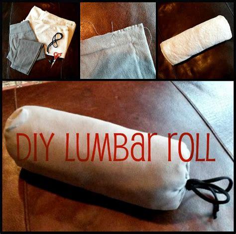 diy lumbar roll lower back support pillow money lower