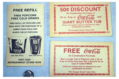 movie theatre concession coupons