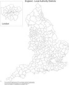 Britain Counties Outline Map by Map Blank