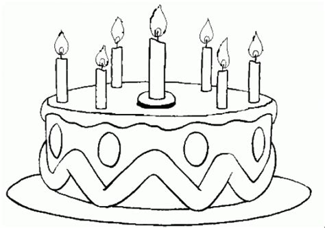 Free Birthday Cake No Candles Coloring Pages Birthday Cake Color Page